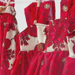 Dress (BeneathTheRowanTree) Tags: red girl dress handmade skirt cotton givens