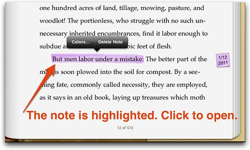 Note created in iBooks 1.2 on iPad