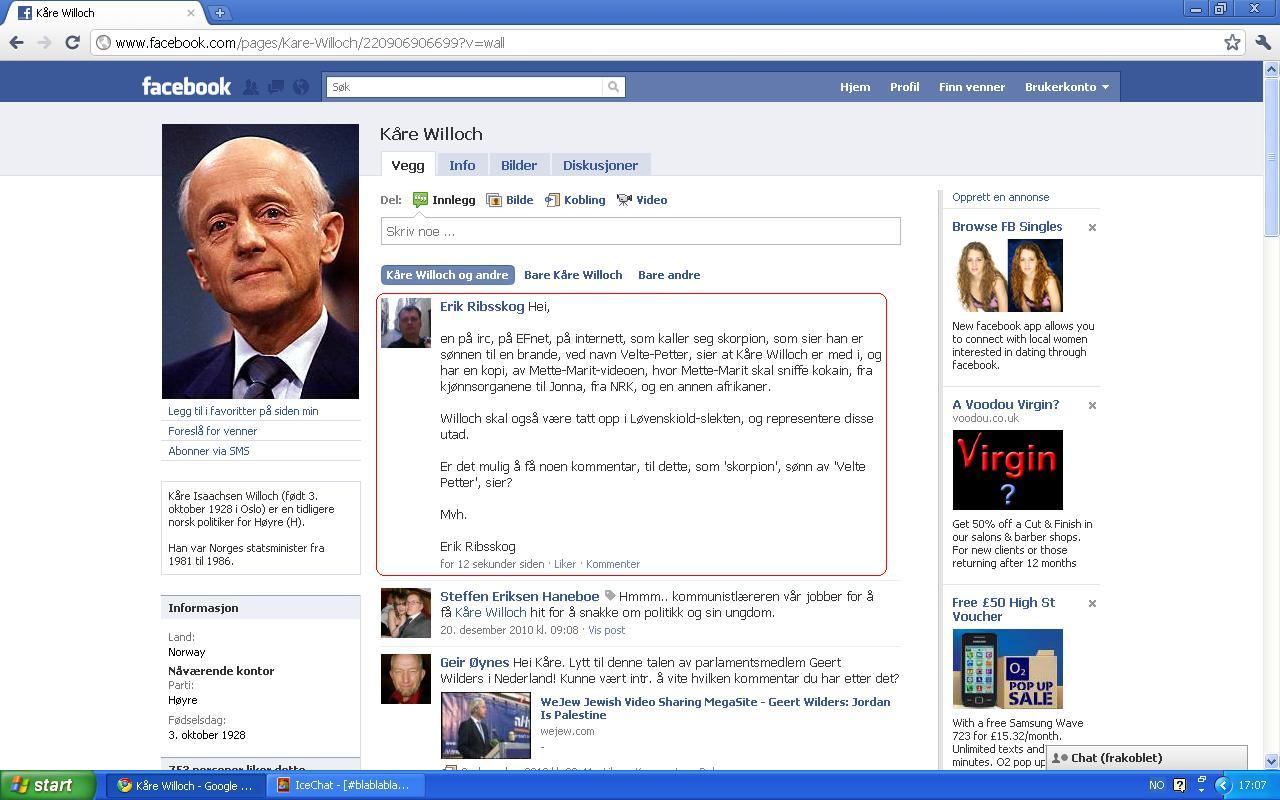 kåre willoch mette marit videoen fb