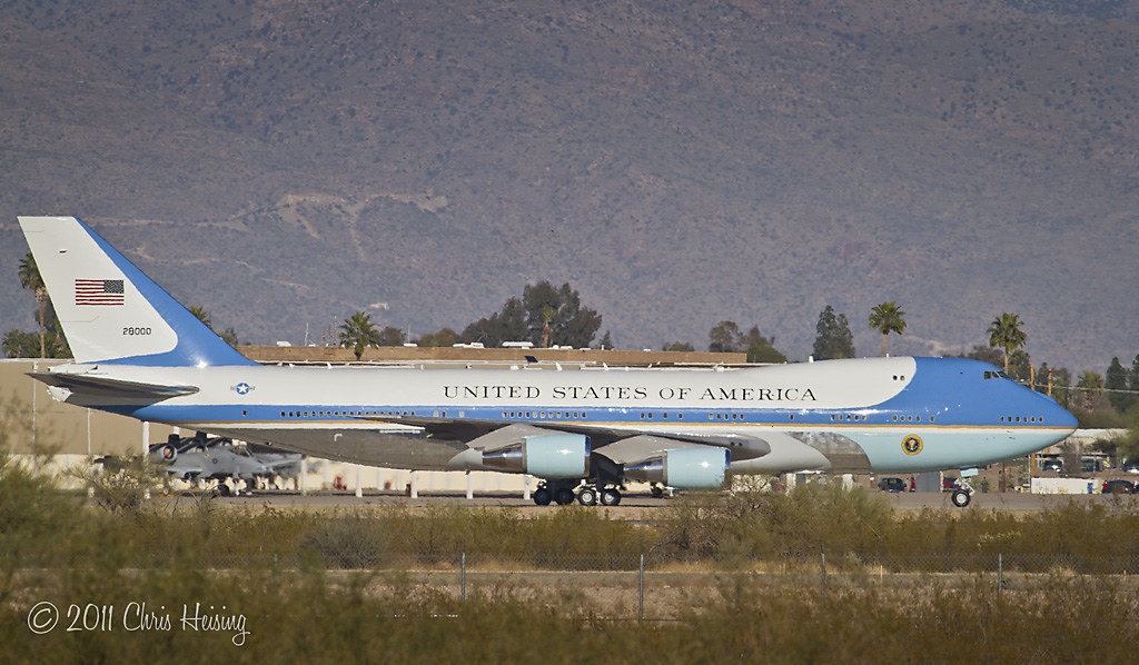 Air Force One arrives in Tucson