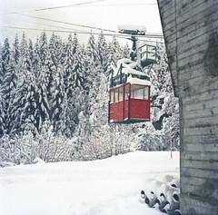 crossing the snow ..... (mr waxy) Tags: schnee 6x6 analog heidi alpen 1980