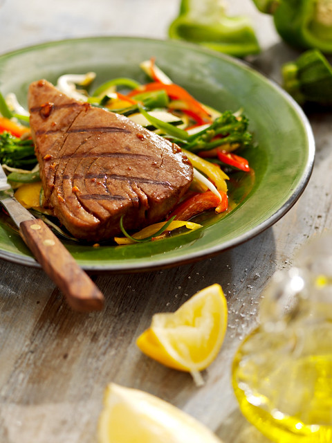 445210_Barbecued Tuna with Soy and Sherry Marinade