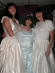 Three satin brides