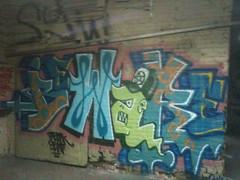 ANTI BEWARE (HOODED NINJA-) Tags: wall aka graffiti beware kentucky louisville graff anti benching