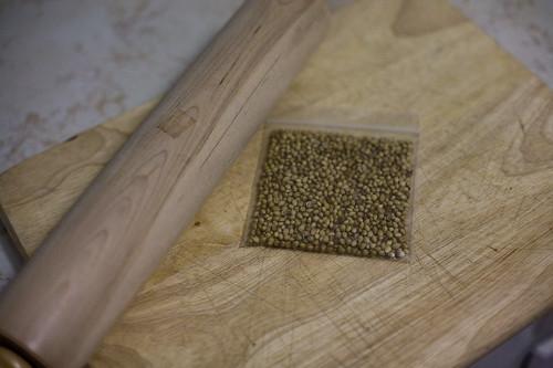 coriander, pre rolling pin