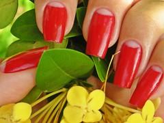 Unha da Semana - Melina (Mhilka ♥) Tags: red nail vermelha unha invertida francesinha