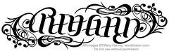 """Reagan"" Ambigram"
