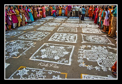 People and their designs (Kals Pics) Tags: people india festival nikon culture competition 1855mm chennai tamilnadu kolam cwc mylapore d40 kapaleeshwartemple northmadastreet kalspics chennaiweekendclickers