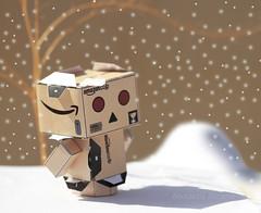 Freezing Danbo ! =D (ZiZLoSs) Tags: snow macro canon eos freezing 7d usm f28 aziz danbo ef100mmf28macrousm abdulaziz  ef100mm zizloss  3aziz canoneos7d danboard almanie abdulazizalmanie httpzizlosscom