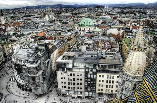 View of Vienna. Vista de Viena