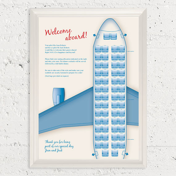 retro plane seating chart
