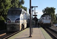 101228_0817540 (cmrowell) Tags: california station train platform amtrak metrolink venturacounty pacificsurfliner moorpark surfliner amtk453 scax871