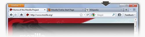 Novo Mozilla FireFox 4 - Abas