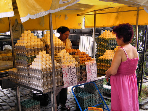 Egg Seller, San Telmo, Buenos Aires, Argentina by katiemetz, on Flickr
