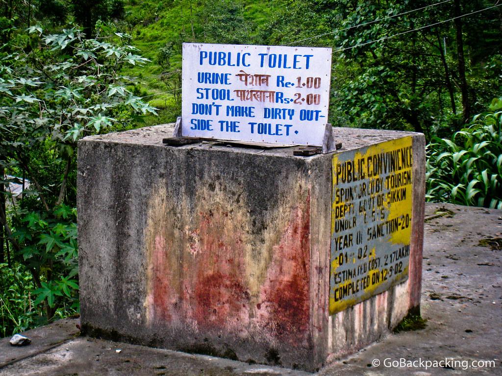Public toilet in India
