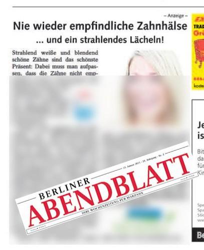 Werbung für Zahnputztabletten - Vorsicht mit der deutschen Sprache