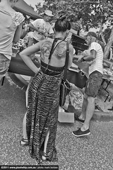 back tattoo (pixelwhip) Tags: portrait bw copyright up trash canon lens photography photo photographer treasure mark wide sigma australia melbourne wireless trigger camberwell offthehip burban 20mmf18 pixelwhip camberwellmarketoffthehipstreetclose