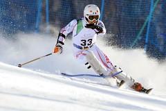 Vincent Gauthier lors de l'épreuve de Super Combiné des championnats du monde 2011 à Sestriere