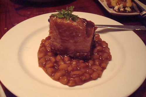 Pork Belly with Baked Beans