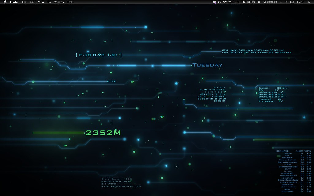 Tron Inspired Desktop by baldrailers