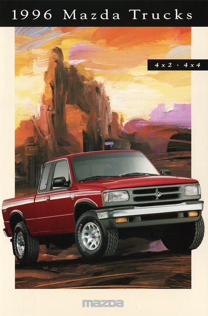 postcard 1996 pickup trucks mazda