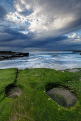 Green mask || Wombarra (David Marriott - Sydney) Tags: wombarra newsouthwales australia au long exposure green seascape ocean sea