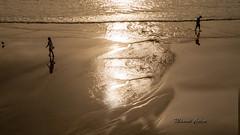 Desde la playa 08 (manuelcincuenta) Tags: playa laconcha arena agua mar cantbrico paseando reflejos reflejosenelagua contraluz manuelcincuenta