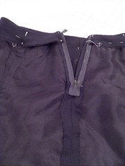 Lapped zipper inside