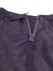 Lapped zipper inside