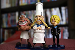 WCF - Patty, Zeff and Sanji (Blacksmith ) Tags: anime actionfigure manga comicbook patty onepiece sanji wcf vol10 alvida banpresto zeff eiichirooda japanlimited pvctoys prizeitems onepieceworldcollectablefigure