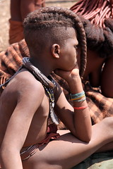 Himba tribe, Namibia (sarahchats) Tags: africa people african culture tribal safari afrika tribe ethnic namibia tribo himba afrique ethnology tribu namibie tribus ethnie