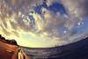 This sky and sea lead to you. (y2-hiro) Tags: sea sky sun sunlight japan clouds nikon fisheye osaka 15mm d3s