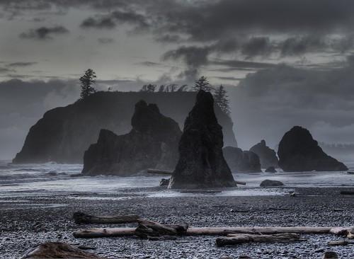 フリー写真素材, 自然・風景, 海岸, 岩山,