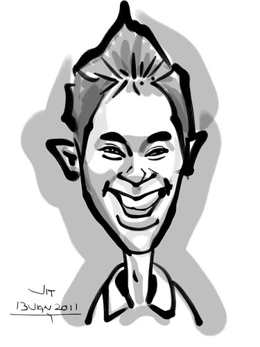 Ipad digital caricature live sketching for AES Sports Showdown - 4