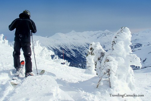 Skier at Whistler Mountain