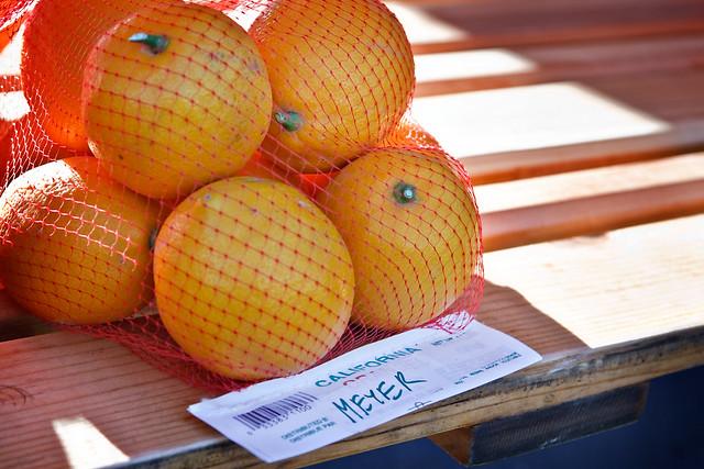 Meyer Lemons at Market