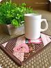 { mug rug } (Gizoca) Tags: coffee handmade sewing crafts sew fabric mug bible coaster caneca xícara tecido bíblia portacopos mugrug gizoca tapetedecaneca