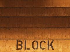 Schritt für Schritt (Postsumptio) Tags: orange sunlight painting concrete character stairway material blocking ptlens singlecolor