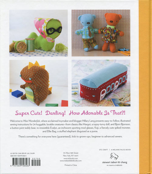 Wee Wonderfuls 24 Dolls to Sew and Love by Hillary Lang, back cover