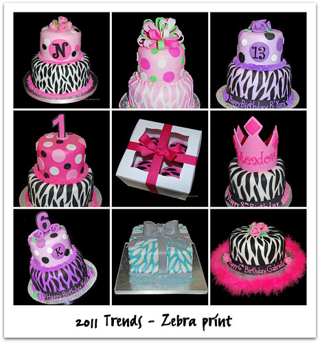 2011 Party Cake Trends - Zebra Print