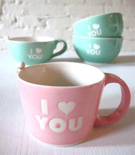 love you angel. I Love You Angel Bowl, Mug, Cup (Set)