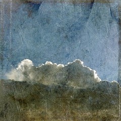 clouds (explored) (friendlydrag0n) Tags: old blue sky texture film vintage square damage faux aged scratch distress explored visionqualitygroup