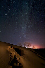 Sunset on the Planet Dune (Dylan MacMaster) Tags: lightpainting nightscape idaho lightpollution milkyway bruneausanddunes fotocompetitionbronze fotocompetitionsilver fotocompetitiongold mpcjanuary2011