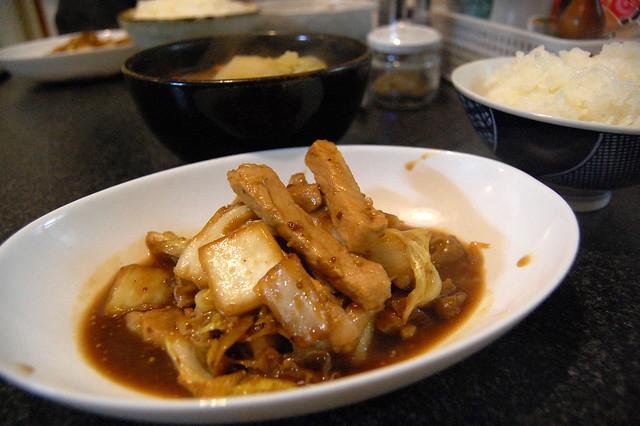 豚肉と白菜のマスタード風味醤油炒め