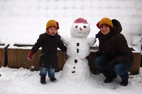 Sneeuwman en sneeuwvrouwen