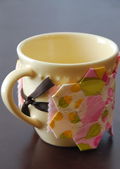 English Paper Pieced Coffee Sleeve