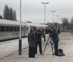 BBC film crew