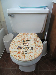 """Let My People Go"" toilet seat cover (tackyjulie) Tags: matzoh 2011 toiletseatcover letmypeoplego tackytreasurseroadshow"