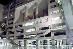 North South University - night - inner facade - 2010 (-Niloy-) Tags: longexposure night university south north dhaka bangladesh nsu