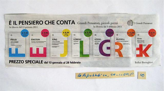 bollati boringhieri, la repubblica, 29.1.2011